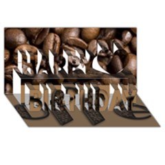 Funny Coffee Beans Brown Typography Happy Birthday 3d Greeting Card (8x4)
