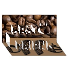 Funny Coffee Beans Brown Typography Best Friends 3D Greeting Card (8x4)