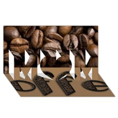 Funny Coffee Beans Brown Typography MOM 3D Greeting Card (8x4)