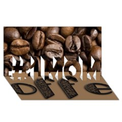 Funny Coffee Beans Brown Typography #1 MOM 3D Greeting Cards (8x4)