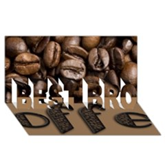 Funny Coffee Beans Brown Typography BEST BRO 3D Greeting Card (8x4)