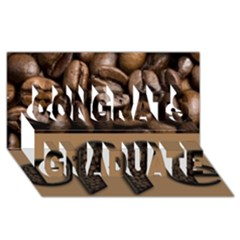 Funny Coffee Beans Brown Typography Congrats Graduate 3D Greeting Card (8x4)