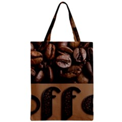 Funny Coffee Beans Brown Typography Classic Tote Bag