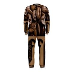 Funny Coffee Beans Brown Typography OnePiece Jumpsuit (Kids)