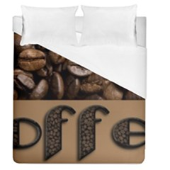 Funny Coffee Beans Brown Typography Duvet Cover Single Side (Queen Size)
