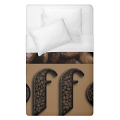 Funny Coffee Beans Brown Typography Duvet Cover Single Side (Single Size)