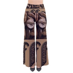 Funny Coffee Beans Brown Typography Pants