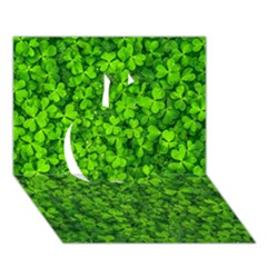 Shamrock Clovers Green Irish St  Patrick Ireland Good Luck Symbol 8000 Sv Apple 3d Greeting Card (7x5)