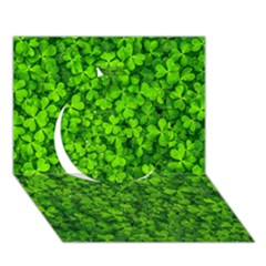Shamrock Clovers Green Irish St  Patrick Ireland Good Luck Symbol 8000 Sv Circle 3D Greeting Card (7x5)