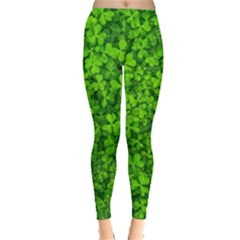 Shamrock Clovers Green Irish St  Patrick Ireland Good Luck Symbol 8000 Sv Leggings
