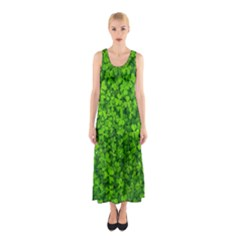 Shamrock Clovers Green Irish St  Patrick Ireland Good Luck Symbol 8000 Sv Sleeveless Maxi Dress