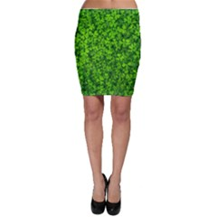 Shamrock Clovers Green Irish St  Patrick Ireland Good Luck Symbol 8000 Sv Bodycon Skirt