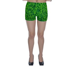 Shamrock Clovers Green Irish St  Patrick Ireland Good Luck Symbol 8000 Sv Skinny Shorts