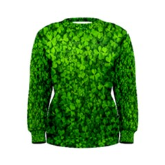 Shamrock Clovers Green Irish St  Patrick Ireland Good Luck Symbol 8000 Sv Women s Sweatshirt