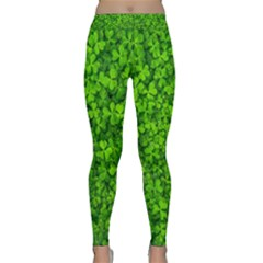 Shamrock Clovers Green Irish St  Patrick Ireland Good Luck Symbol 8000 Sv Yoga Leggings