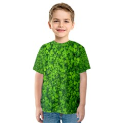Shamrock Clovers Green Irish St  Patrick Ireland Good Luck Symbol 8000 Sv Kids  Sport Mesh Tee