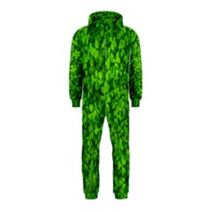 Shamrock Clovers Green Irish St  Patrick Ireland Good Luck Symbol 8000 Sv Hooded Jumpsuit (kids)