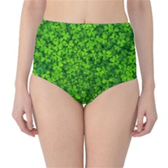 Shamrock Clovers Green Irish St  Patrick Ireland Good Luck Symbol 8000 Sv High Waist Bikini Bottoms