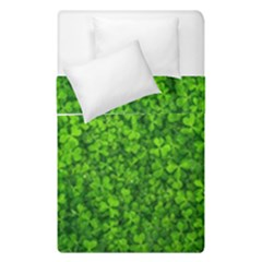 Shamrock Clovers Green Irish St  Patrick Ireland Good Luck Symbol 8000 Sv Duvet Cover (single Size)