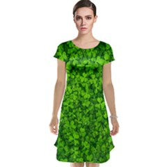 Shamrock Clovers Green Irish St  Patrick Ireland Good Luck Symbol 8000 Sv Cap Sleeve Nightdress
