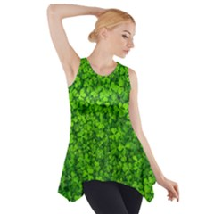 Shamrock Clovers Green Irish St  Patrick Ireland Good Luck Symbol 8000 Sv Side Drop Tank Tunic