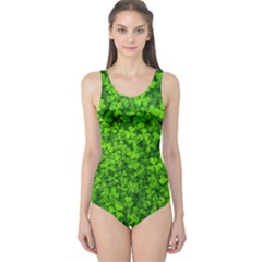Shamrock Clovers Green Irish St  Patrick Ireland Good Luck Symbol 8000 Sv One Piece Swimsuit