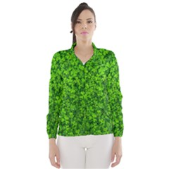 Shamrock Clovers Green Irish St  Patrick Ireland Good Luck Symbol 8000 Sv Wind Breaker (women)