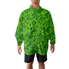 Shamrock Clovers Green Irish St  Patrick Ireland Good Luck Symbol 8000 Sv Wind Breaker (kids)