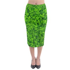 Shamrock Clovers Green Irish St  Patrick Ireland Good Luck Symbol 8000 Sv Midi Pencil Skirt