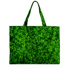 Shamrock Clovers Green Irish St  Patrick Ireland Good Luck Symbol 8000 Sv Medium Tote Bag