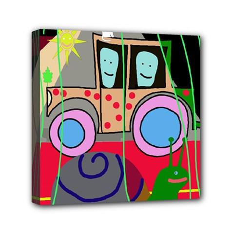 Tractor Mini Canvas 6  x 6