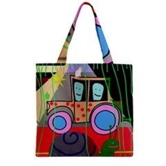 Tractor Zipper Grocery Tote Bag