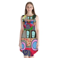 Tractor Sleeveless Chiffon Dress