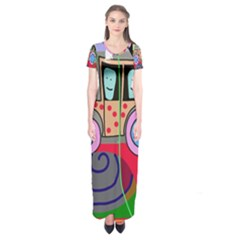Tractor Short Sleeve Maxi Dress