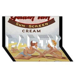 Vintage Summer Sunscreen Advertisement PARTY 3D Greeting Card (8x4)