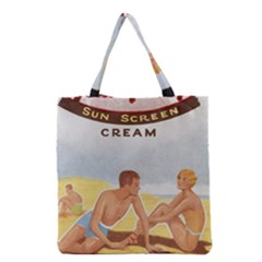 Vintage Summer Sunscreen Advertisement Grocery Tote Bag