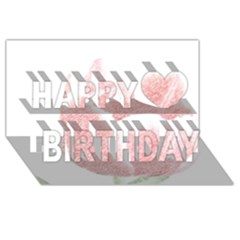 Red Tulip pencil drawing Happy Birthday 3D Greeting Card (8x4)