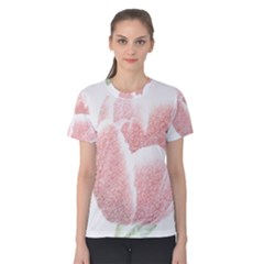 Red Tulip pencil drawing Women s Cotton Tee