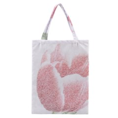 Red Tulip Pencil Drawing Classic Tote Bag