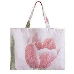 Red Tulip pencil drawing Medium Tote Bag