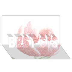 Red Tulip pencil drawing BEST SIS 3D Greeting Card (8x4)