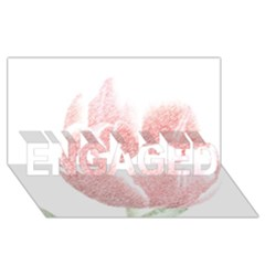 Red Tulip pencil drawing ENGAGED 3D Greeting Card (8x4)