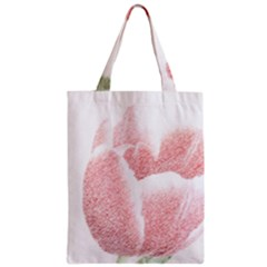 Red Tulip pencil drawing Zipper Classic Tote Bag