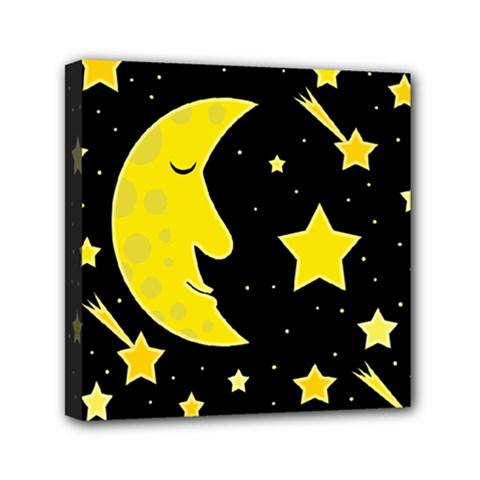 Sleeping moon Mini Canvas 6  x 6