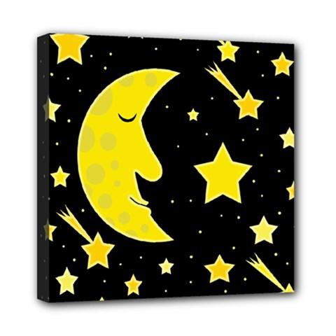 Sleeping moon Mini Canvas 8  x 8