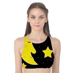 Sleeping moon Tank Bikini Top