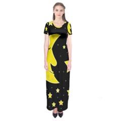 Sleeping moon Short Sleeve Maxi Dress
