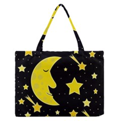 Sleeping moon Medium Zipper Tote Bag