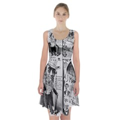 Vintage Song Sheet Lyrics Black White Typography Racerback Midi Dress