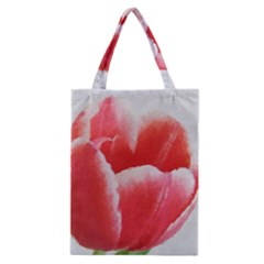 Tulip red watercolor painting Classic Tote Bag
